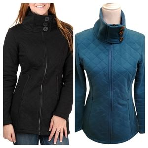 The North Face Caroluna Quilted Fleece Tunic Jacket Juniper Teal Small